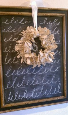 The Farmhouse Porch: Easy Burlap Knot Wreath.love the wreath,i will make this