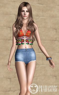 Sims 3 Finds - The Second Elisium - Shorts at Prada Sims