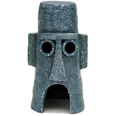 Penn+Plax+SpongeBob+Squidward+Easter+Island+Home+Aquarium+Ornament+-+The+Squidward+Easter+Island+home+is+beautifully+handcrafted+and+makes+a+great+addition+to+any+underwater+habitat. - http://www.petco.com/shop/en/petcostore/penn-plax-spongebob-squidward-easter-island-home-aquarium-ornament