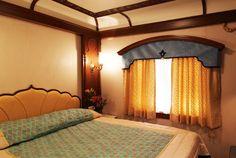 Doppelbett Kabine: die Schlafwagen wurden von der Mysore und Hoysala Architektur inspiriert.