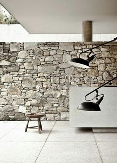 Stone Wall; GOOD CHOICE OF WHITE AND STONE