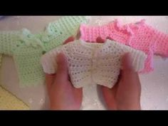 Part 1 Crochet along My Easy Newborn Cardigan Square Shoulders. 08/08/2016 catch up chatter - YouTube