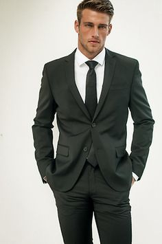 Men's classic black suit
