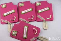 Einladungen - Einladungskarten Eis am Stiel Melone - ein Designerstück von Inezza-Geschenke bei DaWanda