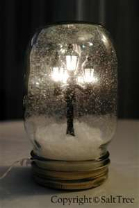 diy miniatures - Street lamp in a jar.