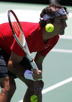 Roger Federer - Even the best can sometimes get away with not keeping their eyes on the ball.