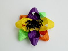 Halloween Dog Bow or Pet Grooming Bow with a Latex Rubber Band or French Barrette on Etsy, $4.00