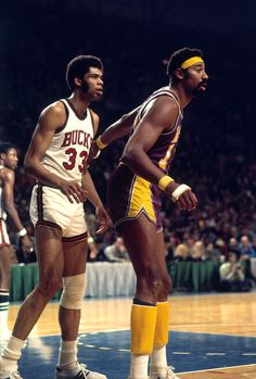 Wilt Chamberlain vs Lew Alcindor, later known as Kareem Abdul-Jabbar