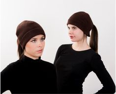 Dark Brown Ponytail Hat - Order today by visiting: http://www.doohat.com