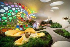 Nautilus Giant Seashell House in Mexico City 3