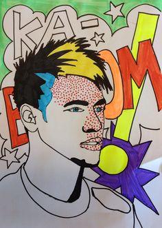Pop ART portret, verwerking Beeldende Vorming
