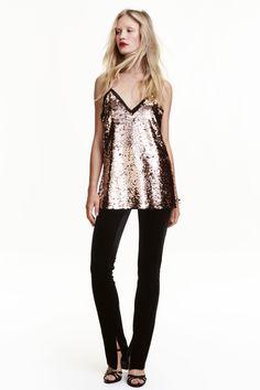 Aksamitne spodnie - Czarny - | H&M PL