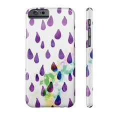 Purple Raindrops Phone Case