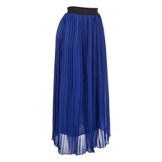 Easy-wearing maxi skirt adds a touch of elegance to any outfit. Braided and studded elastic waist offers pull-on ease and all-day comfort. Chiffon pleated skirt is lightweight and flowy. Dress it up or play it down for more casual days.
