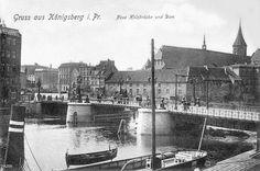 KÖNIGSBERG Pr. Neue Holzbrücke und Dom