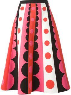 Valentino geometric paneled skirt on shopstyle.com
