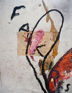 Julian Schnabel Fakires, 1993 Oil, resin, and cardboard on cotton drop cloth 275 x 214 cm