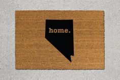 Nevada Doormat Nevada Door Mat Nevada Welcome Mat by TheDoormatory