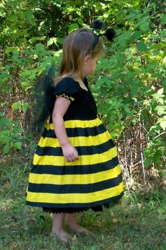 Bee Cute Bumble Bee Reversible Costume Dress by correenscdesigns, $125.00