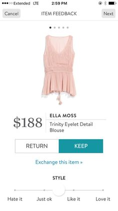 Ella Moss Trinity Eyelet Detail Blouse. I love Stitch Fix! A personalized styling service and it's amazing!! Simply fill out a style profile with sizing and preferences. Then your very own stylist selects 5 pieces to send to you to try out at home. Keep what you love and return what you don't. Only a $20 fee which is also applied to anything you keep. Plus, if you keep all 5 pieces you get 25% off! Free shipping both ways. Schedule your first fix using the link below! #stitchfix @stitchfix…