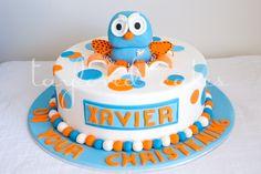 Hoot The Owl - Orange and Blue Cake