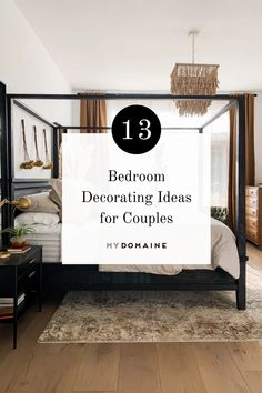 Even if you and your partner have differences in style, you can still create a bedroom you'll both love. Here are 13 bedroom decorating ideas for couples.