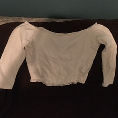 saleHollister white crop top Great condition size large Hollister Tops Crop Tops