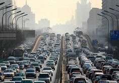 (Reuters Health) - Kids who live in neighborhoods with heavy traffic pollution have lower IQs and score worse on other tests of intelligence and memory than children who breathe cleaner air, a new study shows. New Cars For Sale, Thing 1, Busy City, Greenhouse Gases, Urban Planning, Beijing, Multimedia, Picture Photo, The Neighbourhood