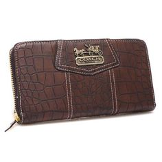 Discount Coach Accordion Zip In Croc Embossed Large Coffee Wallets CCP Clearance Coach Tote, Coach Purses, Purses And Bags, Coach Backpack, Tote Bag, Coach Handbags Outlet, Coach Outlet, Op Art, All I Want