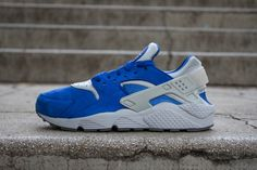 on sale 3563a 40834 NIKE AIR HUARACHE RUN PRM VARSITY ROYAL WOLF GREY www.cornerstreet.fr