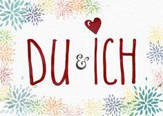 Kartenemma Postkarte | DU & ICH