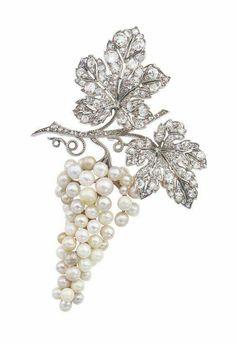 Pearl and Diamond Brooch, Van Cleef & Arpels Ca. 1915