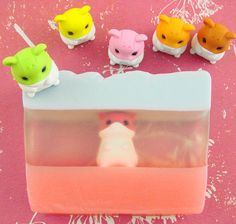 This is such a cute idea. Layers, Hamsters & Soap - Soap Queen