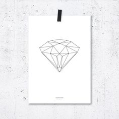 Plakát Geometry Diamond All Poster, Geometry, Notes, Diamond, Prints, A4, Monitor, Envelope, Tube