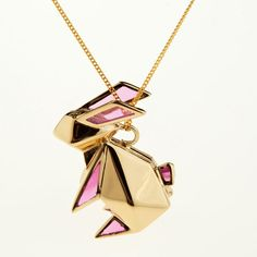 This is sooo cute - origami bunny necklace