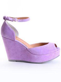 Violet Femme Platform Wedge by BC Footwear, Purple