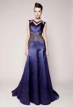 Just a pretty dress: Silky deep blue Dina Jsr gown