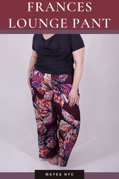 The Mayes NYC slow fashion lounge pant will quickly become a key piece in your wardrobe. The only thing you'll want to wear when you're at home or on a trip around the world will be these luxurious handmade lounge pants. Our slow fashion plus size luxe lounge pants can be dressed up or down depending on your mood: casual, office, out on the town, and travelling are all possibilities with our slow fashion luxe lounge pants.