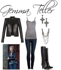 """Gemma Teller"" by jess31rabbit on Polyvore... i actually do like the way jemma dresses lol"