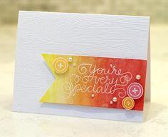 Gradient card using Inktense pencils
