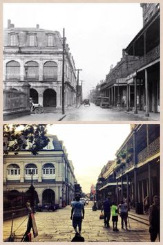 Corner of St Ann and Chartres, 1900 and 2014