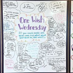 Today my kiddos shared a one wish they have! I love the variety of wishes in my class Forever inspired by @miss5th #onewish #whiteboard #floridateachers #teacherspayteachers #teachersofinstagram #firstyearteacher #iteachfifth #iteach456 #inspiration #miss5thswhiteboard