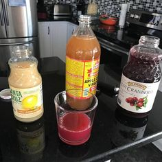 Detox your liver, kidneys and intestines: 2 oz Unsweetened cranberry juice, 1 tbsp apple cider vinegar and 1 tbsp lemon juice. Add 6-8 oz water and drink before meals or drink the water after the detox juice.
