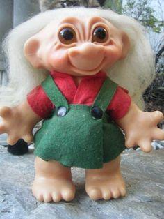 Vintage Troll Doll w/ Glass Eyes Dam