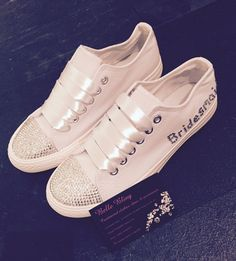 Wedding Converse Style Trainers Bling Crystal Personalised White 3 4 5 6 7 8 in Clothes, Shoes & Accessories, Wedding & Formal Occasion, Bridal Shoes | eBay