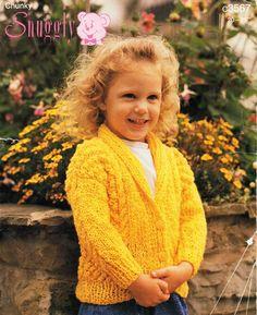 Childrens Knitting Pattern PDF childrens cardigan knitting pattern cable jacket…