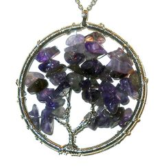 Tree of Life Pendant Natural Purple Amethyst  20.00 ctw  #Unbranded #Pendant http://stores.ebay.com/JEWELRY-AND-GIFTS-BY-ALICE-AND-ANN