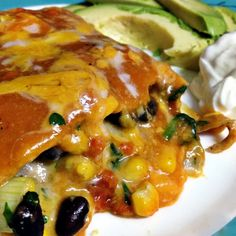 Black Bean and Spinach Enchilada Casserole