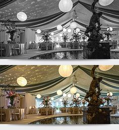 Marquee decoration, marquee decor, wedding decor, event design and wedding design | Crescent Moon