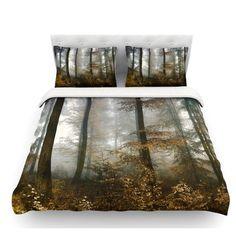 East Urban Home Forest Mystics by Iris Lehnhardt Featherweight Duvet Cover Size: Queen
